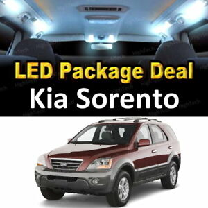 5x White Led Lights Interior Package Deal For 2003 2004 2005 2006 Kia Sorento