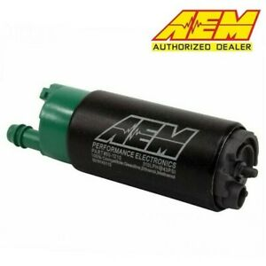Aem 50 1210 E85 Compatible High Flow 310lph In Tank Fuel Pump Offset Inlet