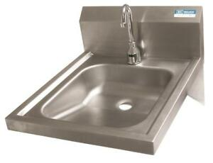 Bk Resources 14 x16 x5 Wall Mount Ada Stainless Steel Hand Sink