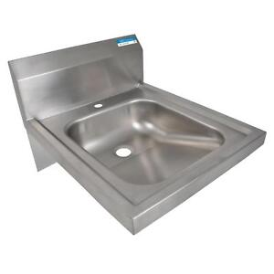 Bk Resources Bkhs ada d 1 14 X 16 Stainless Steel Ada Wall Mounted Hand Sink