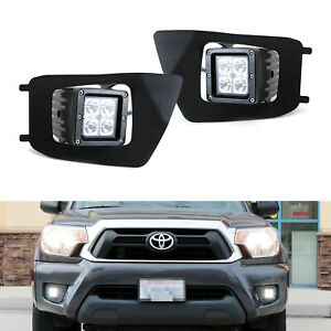 40w Cree Cubic Led Foglamps W mount Bracket Bezel Wirings For 2012 15 Tacoma
