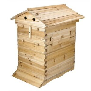 Beehive Wooden Beekeeping House Box Hive Honey Keeper For Auto 20 Flow Raw Frame