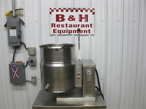 Vulcan 40 Qt Steam Jacket Tilt Electric Soup Kettle 10 Gallon Ec 10