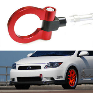 Sports Red Track Racing Style Aluminum Tow Hook Ring For 2005 2010 Scion Tc