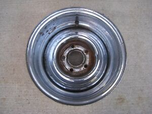 Original 1960 S Reverse Chrome Steel Wheel Or Rim 14 X 8 5 Lug 4 3 4 Pattern