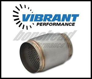 Vibrant 17965 Stainless Steel Race Muffler 3 5 Inlet Outlet X 5 Long