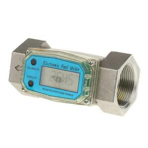Digital Diesel Fuel Flow Meter 1 5 Electronic Turbine Flow Gauge 380l min