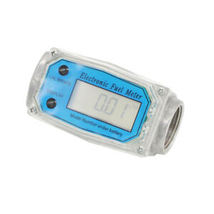 1 Electronic Turbine Digital Diesel Gasoline Fuel Flow Meter 10 100l min