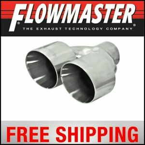 Flowmaster Exhaust Tip Dual 4 Polished Stainless Fits 2 5 Tubing Weld On