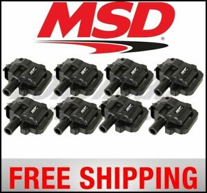 Msd Ignition Coils Street Fire Gm 98 06 ls 1 6 8 pack