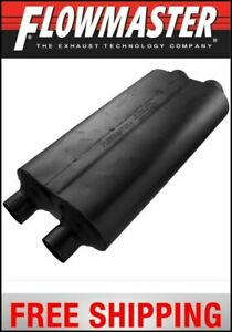 Flowmaster Universal 50 Big Block Muffler 3 Dual In 2 5 Dual Out