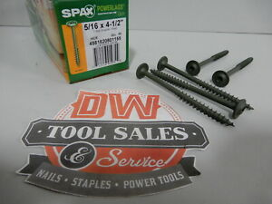 Spax Screws Made In Usa 5 16 X 4 1 2 Washer Head Star Drive Exterior