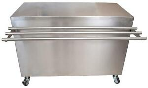 Bk Resources 60 X 24 Stainless Steel Serving Counter W Sliding Door