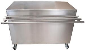 Bk Resources Sect 3072s 72 x30 Stainless Steel Serving Counter W Sliding Door