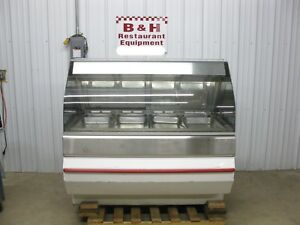 Henny Penny 4 Well Full Glass Hot Food Merchandiser Heated Display Case Hmr 104