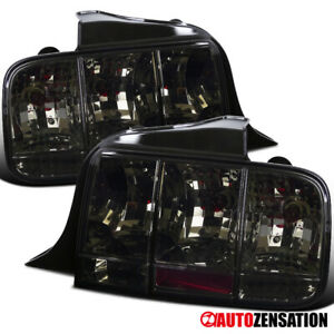 For 2005 2009 Ford Mustang Smoke Tail Lights Sequential Turn Signal Lamps Pair