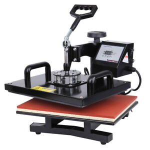 15 x12 Heat Press Photo T shirt Sublimation Transfer Machine With Digital Timer