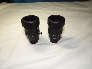 Wild Leica Microscope Eyepieces 10x21b 10447160 pair 30mm For Stereo Zoom