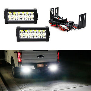 High Power Led Light Bars W Rear Bumper Mount Brackets For 11 Up Ford F250 F350