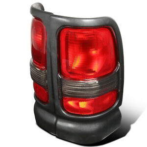 For 1994 2001 Dodge Ram 1500 2500 3500 Truck Black Red Clear Tail Lights Lamps