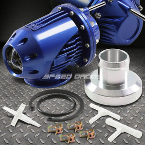 Blue Sqv Type2 Turbo Turbocharger 1 30 Psi Adjustable Blow Off Valve Bov Adapter