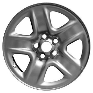 69506 Oem Reconditioned Steel Wheel 17 X 6 5 Medium Silver Full Face Painted