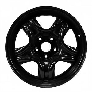69625 Factory Oem Reconditioned Steel Wheel 17 X 6 5 Black Full Face Painted