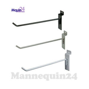 Slatwall Hooks For Slat Wall 6 Black White Or Chrome Free Shipping