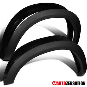 For 2009 2018 Dodge Ram 1500 Black Factory Style Smooth Fender Flares Protector