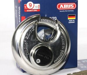 Abus 20 70 Diskus Round Padlock With Plus Cylinder Keyed Alike