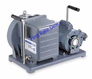 Welch 1402b 46 Vacuum Pump Duoseal Rotary Vane Refrigeration Chiller Two Stage