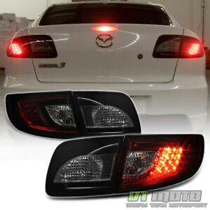 2003 2008 Mazda 3 Mazda3 Lumileds Led Red Smoked Tail Lights Lamps Left right