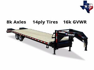 Texas Pride 8 1 2 X 25 20 5 Gooseneck Deckover Equipment Trailer 16k Gvwr