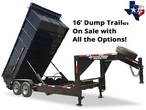 Brand New 7 X 16 Gooseneck Dump Trailer 16k Gv Super Duty Workhorse Special