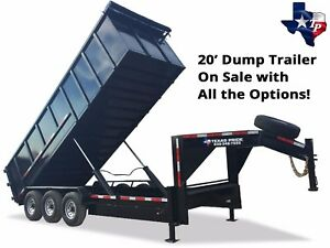 Brand New 7 X 20 Gooseneck Dump Trailer 24k Gvwr Fully Loaded Package Deal