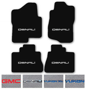4pc Carpet Floor Mat Set For 2000 2017 Gmc Yukon denali Choose Logo