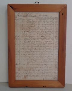 A W Turner General Store Bill Of Sale 1844 To 1845 Ontario New York Framed