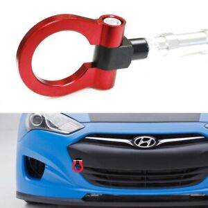 Sports Red Track Racing Style Aluminum Tow Hook For 10 Up Hyundai Genesis Coupe