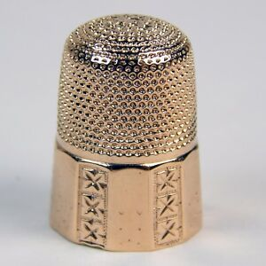 Carter Gough Co Victorian Sewing Thimble 14 Kt Rose Gold Circa 1900 S A1663