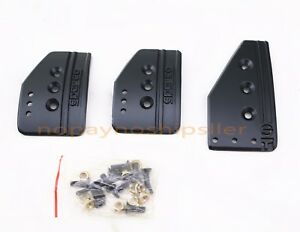 Universal Racing Black Spc Brake Gas Foot Pedal Pad Cover Kit Mt Transmission