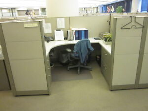 Used Office Cubicles Steelcase Answer Cubicles 7 5x5 5