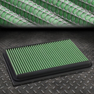 For 07 17 Camry Xv40 Xv50 Green Reusable Durable Engine Air Filter Intake Panel