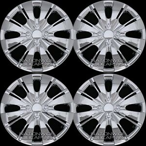 15 Set Of 4 Chrome Wheel Covers Snap On Full Hub Caps Fit R15 Tire