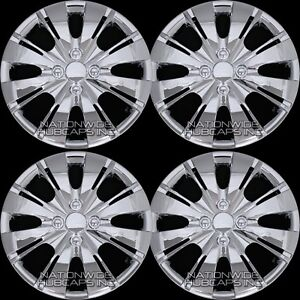 15 Set Of 4 Chrome Wheel Covers Snap On Full Hub Caps Fit R15 Tire Steel Rim