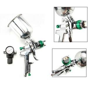 600cc Hvlp Spray Gun Auto Car Paint Gravity Feed Gauge Flake Primer Nozzle 600l
