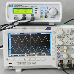 Dual channel Dds Arbitrary Waveform Function Signal Generator Counter Kit 25mhz