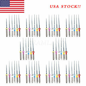 us Stock 10 Packs Dental Endodontic Niti Engine Use Super Rotary Files 25mm Ch