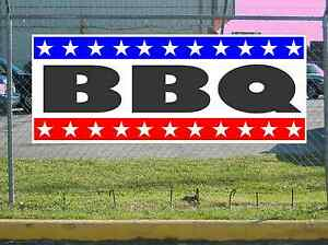 Stars Stripes Bbq Banner Sign New 2x5 Barbecue