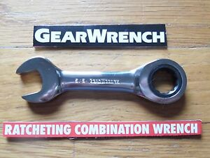 Gearwrench Stubby Ratcheting Wrench Sae Or Metric Combination Ratchet New