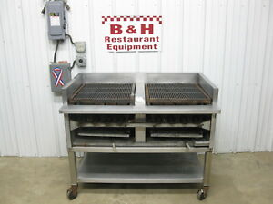 48 Heavy Duty Commercial Natural Gas Char Broiler Grill W Adjustable Grates 4